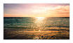 """Infrarot-Glasbildheizung """"Sonne im Meer"""", 600 Watt, 110x60cm"""