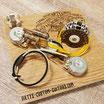 HH Blacktop Solderless Wiring Harness 2x Humbucker Stratocaster