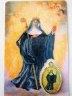 028 Irmengard Gebetskarte mit Medaille