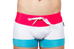 Bañador tipo boxer World Series - modelo Rude color blanco - Uso triatlón y natación