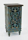Rustic Teal End Table