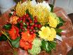 Bouquet rond avec eau