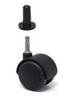Design61 4er Set Universal Möbelrolle Gummirolle Rolle für harte Böden mit Hülse + Stift