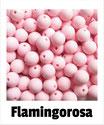 Perlen flamingo- rosa 9mm