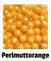 Perlen perlmutt- orange 9mm