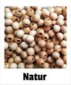80 Perlen natur 8mm