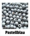 80 Perlen pastellblau 8mm