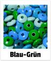 100 Linsen blau-grün