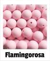 Perlen flamingorosa 15mm
