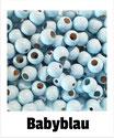 25 Sicherheits-perlen babyblau