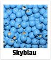 25 Sicherheits-perlen skyblau