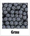 60 Perlen grau 10mm