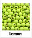 25 Sicherheits-perlen lemon