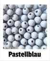 60 Perlen pas- tellblau 10mm