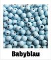 80 Perlen babyblau 8mm