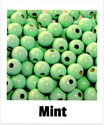 60 Perlen mint 10mm