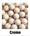 Perlen creme 15mm