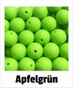 Perlen apfelgrün 15mm
