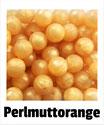 Perlen perlmutt- orange 12mm