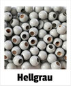 25 Sicherheits-perlen hellgrau
