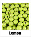 60 Perlen lemon 10mm