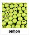 60 Perlen lemon 10mm