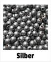 80 Perlen silber 8mm