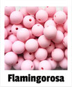 Perlen flamingo- rosa 12mm