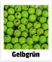 60 Perlen gelbgrün 10mm