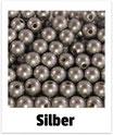 60 Perlen silber 10mm
