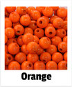 60 Perlen orange 10mm