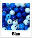 100 Perlen blau