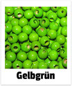 25 Sicherheits-perlen gelbgrün