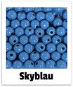 60 Perlen skyblau 10mm