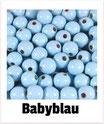 60 Perlen babyblau 10mm