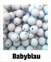 Perlen babyblau 9mm