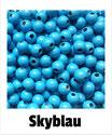 80 Perlen skyblau 8mm
