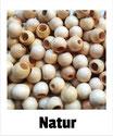 25 Sicherheits-perlen natur