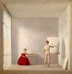 Il pittore e la modella - Riproduzione a colori