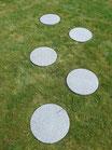 40 Trittsteine aus Granit (graphit)