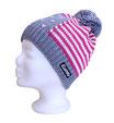 Eisbär Mütze Duke, USA Design, grau/rosa