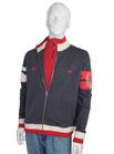 Herren Sweater Jacke Ski Austria 1 blau/grau