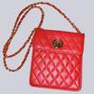 Mini-Handtasche, rot