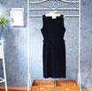 Kleid mit Gürtel, dunkelblau, Gr. 46