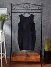Kleid mit elastischen Einsätzen, Gr. 46,  Glamour-Look mit Hahnentritt-Muster