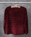 Flauschiger Pullover, Gr. 44/46, bordeaux