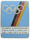 Reit im Winkel 1964 Pre-Olympic Trials Badge