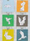 6 cartes origami