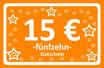 15 € Gutschein
