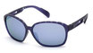 Adidas SP 0013 Transparent Dark Violet / Grey Violet Mirror Polar